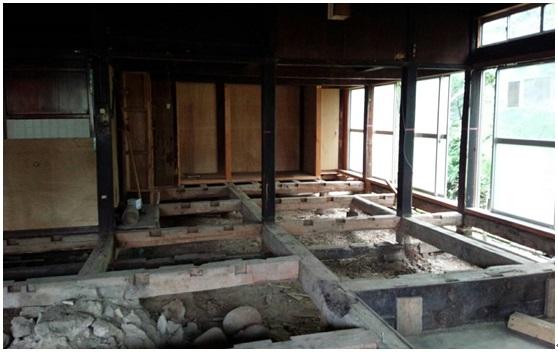 古民家改造工事がはじまりました。