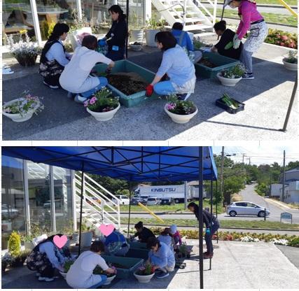 お花の寄せ植え教室✿