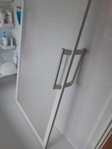 浴室入口のレール掃除!!